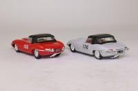 Corgi 97701; The Racing E Types Gift Set; 2x Jaguar E Types: Ivory RN170 & Red RN108