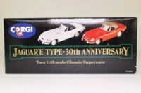 Corgi 97680; Jaguar E-Type; Open Top Grey; Soft Top Red