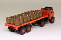 Trackside DG149001; AEC Mammoth Artic; 2 Axle Flatbed, Charrington, Barrel Load