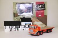 Corgi CC11501; AEC MkV Truck; 8 Wheel Rigid Flatbed, Siddle Cook, Lazy Trout Cafe