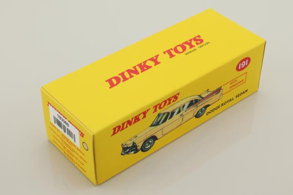 Atlas Dinky Toys 191; Dodge Royal Sedan; Cream, Tan Side Flash