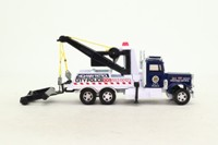 Matchbox King Size K-121/1; Peterbilt Wreck Truck; Highway Patrol, Dark Blue & White