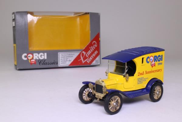 Corgi 874; 1915 Ford Model T Van; Corgi Toys, 2nd Anniversary 1986