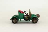 Models of Yesteryear Y-2/2; 1911 Renault AX Two-Seater; Metallic Green, Red Seats