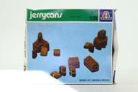 Italeri 402; 24x Model Jerrycans; Unpainted Plastic