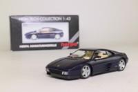 Herpa 010115; 1989 Ferrari 348 tb; Midnight Blue, Opening Doors, Front & Rear