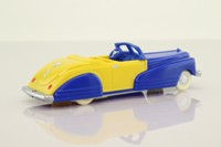 Dimestore Dreams 20010; Convertible Car; Blue & Yellow