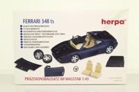 Herpa 012096; 1989 Ferrari 348 TS Targa; Black, Self-Assembly Kit