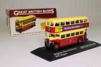 Atlas Editions 4 655 110; AEC Regent Double Decker Bus; Brighton & Hove District: Rt 42 Circular; Old Steine