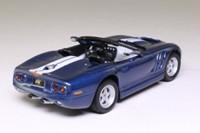 Maxi Car 10083; 1999 Shelby Series 1; Metallic Blue, White Stripes