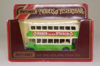 Models of Yesteryear Y-5/5; 1929 Leyland Titan Bus; Southdown; 4 Tarring, Durrington, High Salvington