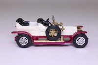Models of Yesteryear Y-10/3; 1906 Rolls-Royce Silver Ghost; White, Purple Chassis