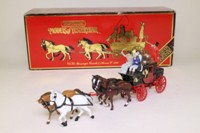 Models of Yesteryear YS-39; 1820 Stage Coach & Horses; With Passenger Figures