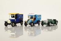 Models of Yesteryear; 3 Piece Gift Set; Jaguar SS100; Renault Van & Ford Van