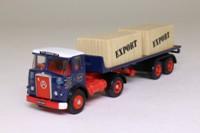 EFE 19302; Atkinson 4x2 Artic Twin Axle Flatbed; W H Bowker Ltd, Blackburn, Crates Load