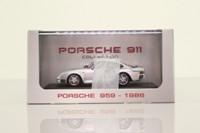 Atlas Editions 7 114 013; 1986 Porsche 959; Silver Metallic