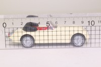 Dinky by Matchbox DY036/A; 1960 Jaguar XK150 Drophead Coupe; Open Top, Cream, Red Interior