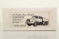 A Smith Auto Models C10; Scammell Contractor Ballast Tractor; White Metal Self-Assembly Kit