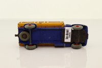 Dinky Toys 417; Leyland Comet Stake Truck; Dark Blue Cab, Dark Blue Chassis, Brown Back, Red Hubs