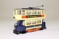 Corgi C992/7; Double Deck Tram, Closed Top, Open Platform; Birmingham Corporation; Lodge Rd