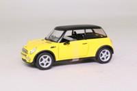 Corgi TY91066; 2001 BMW Mini-Cooper; Yellow, Black Roof