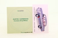 Vanguards VA44000; Austin A60 Cambridge; Cumulus Grey & White