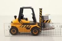 Teamsters 41023; Forklift Truck; Black & Yellow with Drum & Pallet Load
