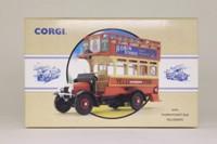 Corgi Classics 96993; Thornycroft J Type Bus; Yelloway, Rochdale, Bury, Bolton, Chorley, Blackburn, Preston, Blackpool