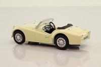 Vanguards VA47000; Triumph TR3A Sports; Open Top, Pale Yellow