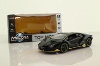 Top Model 322; Lamboghini Centenario LP 770-4; Black, Yellow Stripes