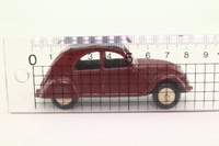 Atlas Dinky Toys 24T; Citroen 2CV; Maroon & Grey