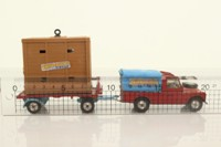Corgi Toys 19; Circus Land Rover and Elephant Trailer; Circus Land Rover and Elephant Trailer with plastic tilt on the Land Rover