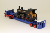 Models of Yesteryear YS-16; 1929 Scammell 100 Ton Low Loader; Pickfords, Locomotive Load