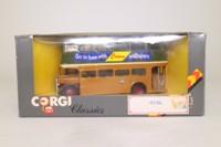 Corgi D599/4; AEC RT Double Deck Bus; Glasgow Corporation; 10 Springboig Rd, Alexandra Parade, Charing X, Broomhill X