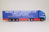 Corgi CC12402; Volvo FH; Curtainside Trailer, Owens Road Services Ltd, Llanelli