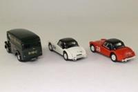 Corgi 97695; The Abingdon Set; Red MGA, White MGA & Morris J Van