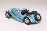 Models of Yesteryear Y-1/3; 1936 Jaguar SS100; Steel-Blue