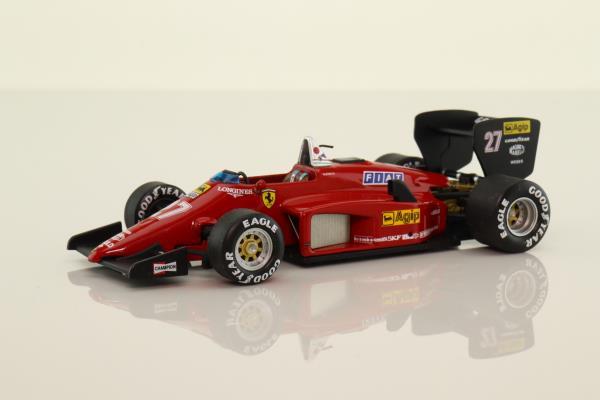 Hot Wheels N5585; Ferrari 156-85; 1985 Formula 1; Michele Alboreto, RN27