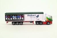 Oxford Diecast 76SHL04WF; Scania Highline Artic; Walking Floor, Eddie Stobart; Ascot Champions Day
