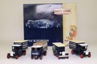 Days Gone Lledo PI1004; Pickfords 4 Truck Set; Pre-War Vans & Trucks
