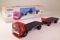 Corgi 97895; AEC Ergomatic Cab; 4 Wheel Rigid Flatbed & Trailer: British Road Services