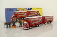 Corgi 31902; Foden S21 Mickey Mouse; 8 Wheel Rigid Pole Lorry & Trailer, Chipperfield's Circus Elephants