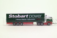 Oxford Diecast 76SHL02CS; Scania R Cab; Curtainside Trailer; Stobart Power