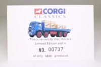 Corgi Classics 27501; Atkinson; 8 Wheel Rigid Flatbed, Aaron Henshall of Prescot, Crates Load