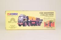 Corgi Classics 12401; Foden FG; 8 Wheel Rigid Flatbed With Chains, Fremlins Brewery; Crates & Barrels Load