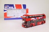 Corgi OOC GS89201; Wrightbus New Routemaster; London Buses; 38 Piccadilly Circus, Best of British