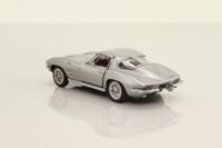 Franklin Mint B11PT88; 1963 Chevrolet Corvette Stingray; Metallic Silver