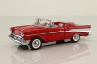 Franklin Mint B11UK09; 1957 Chevrolet Bel-Air Convertible; Open Top, Red
