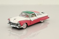 Franklin Mint B11UK08; 1955 Ford Fairlane Crown Victoria; Pink & White