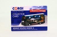 Corgi OOC OM46513; Wrightbus Eclipse Gemini 2 Bus; Harry Potter Warner Bros Sudio Shuttle Bus